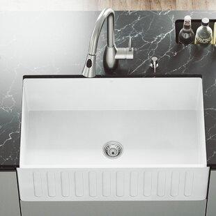 White 30 Inch Farmhouse Sink | Wayfair