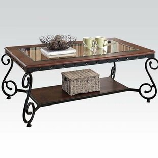 Cousar Coffee Table with Storage Fleur De Lis Living