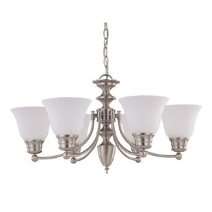 Poneto 6-Light Shaded Chandelier by Charlton Home