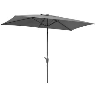Review Tunis 2.7m X 1.5m Rectangular Traditional Parasol