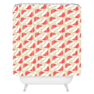 Borowski Santa Hats Single Shower Curtain