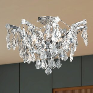 Rosdorf Park Regan 6-Light Semi Flush Mount