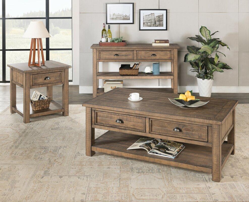 Gracie Oaks Risner 3 Piece Coffee Table Set