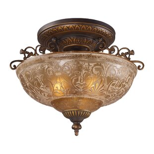 Fleur De Lis Living Barling 3-Light Semi-Flush Mount