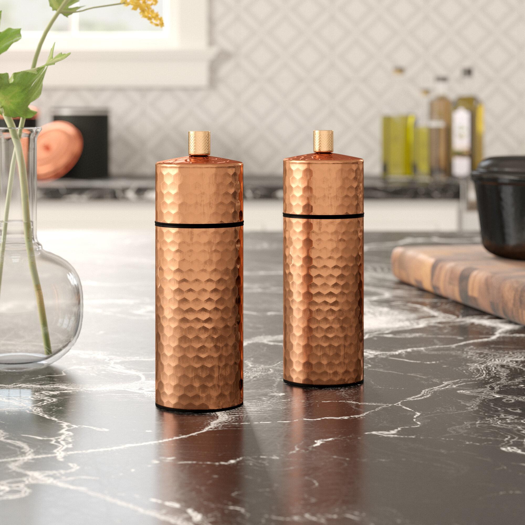 MasterClass Hammered Salt and Pepper Shaker Set