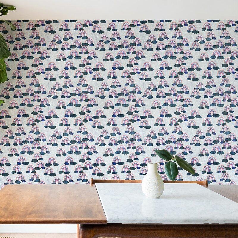 Schatzi+Just+Rainbows+Matte+Peel+and+Stick+Wallpaper+Panel