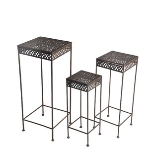 Charity Square Iron 3 Piece Nesting Plant Stand Set
