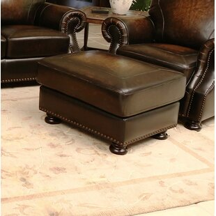 Darby Home Co Ennis Leather Ottoman