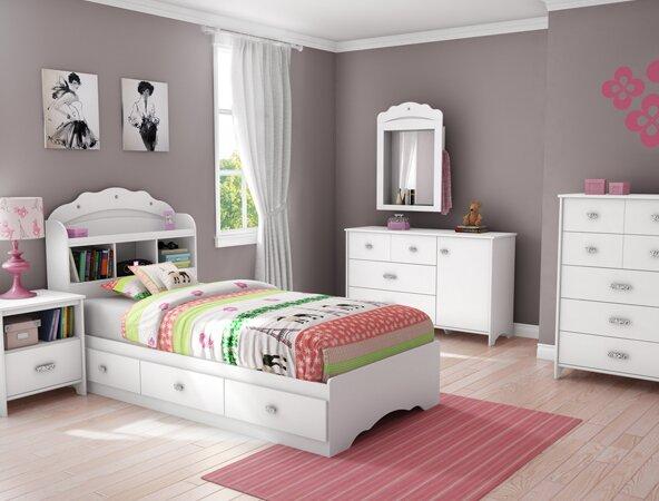 South Shore Tiara Twin Platform Customizable Bedroom Set Reviews