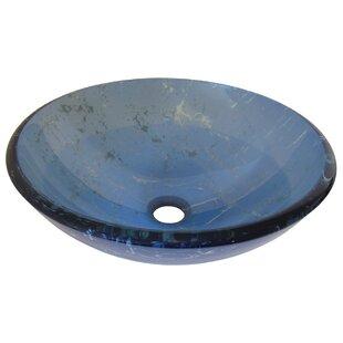 Price comparison Marmo Glass Circular Vessel Bathroom Sink By Novatto