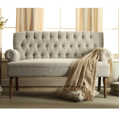 Bjorn Chesterfield Settee Upholstery Color: Beige by Andover Mills