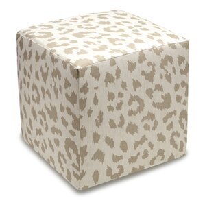 Tyre Upholstered Cube Ottoman by Bloomsbury Market