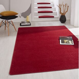 Fancy Red Stair Tread (Set of 15) by Hanse Home
