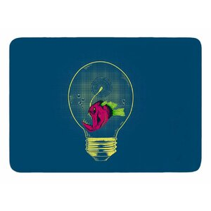Anglerfish Bulb by BarmalisiRTB Bath Mat