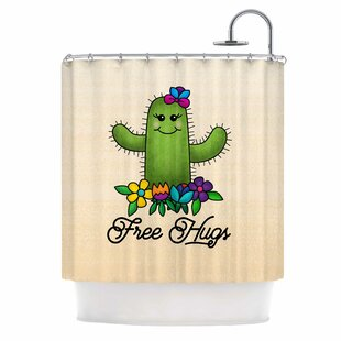 Free Hugs Cactus Single Shower Curtain