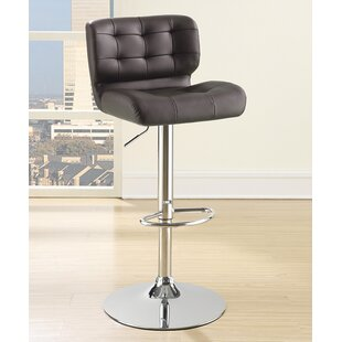 Solok Adjustable Height Bar Stool Wade Logan