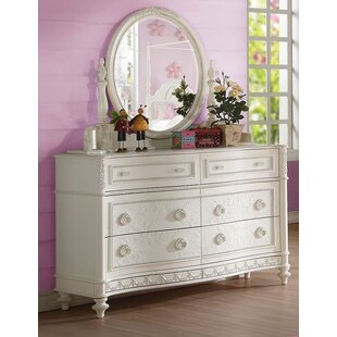 Bo 6 Drawer Double Dresser with Mirror by Rosdorf Park