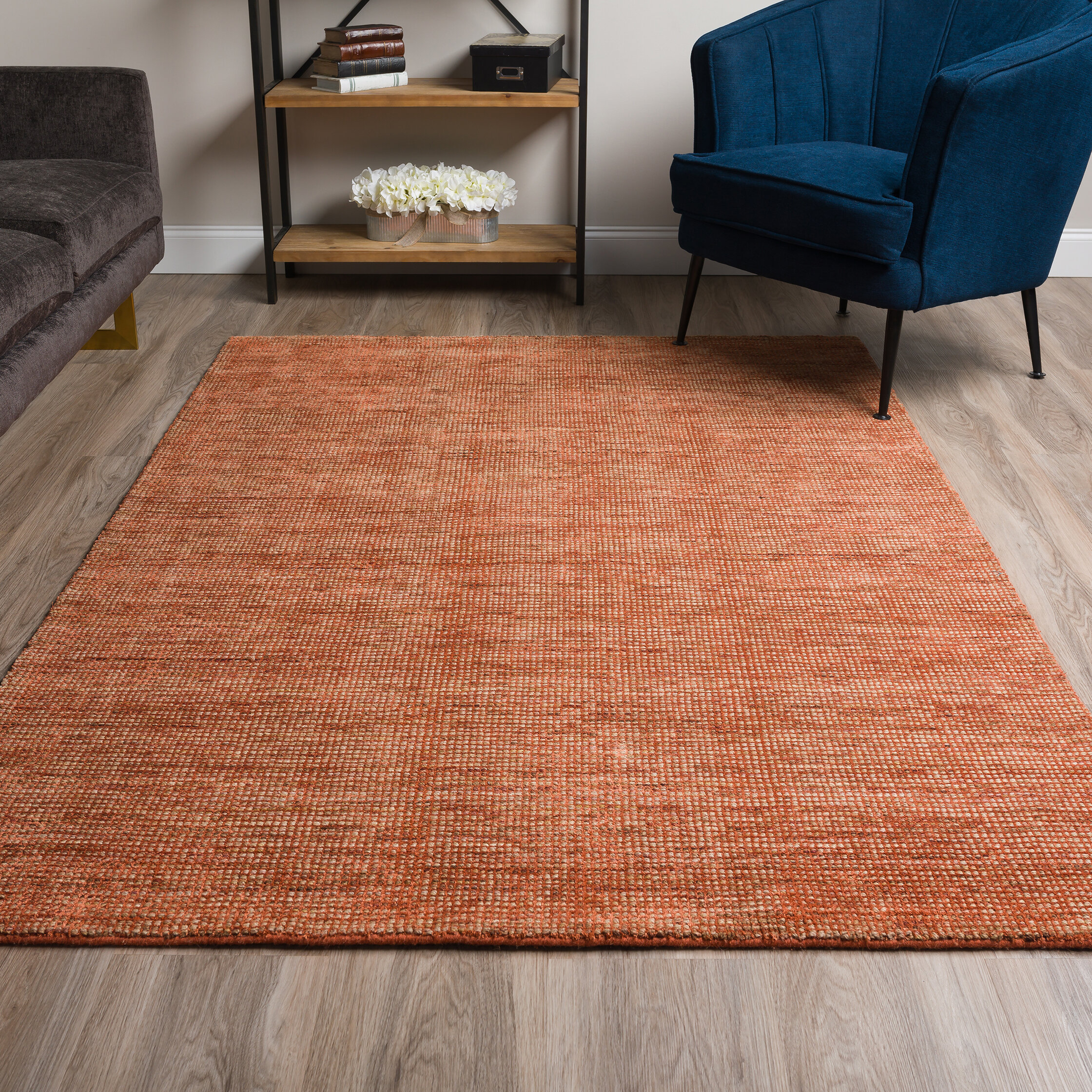 Bay Isle Home Dominic Hand Hooked Paprika Area Rug Reviews Wayfair