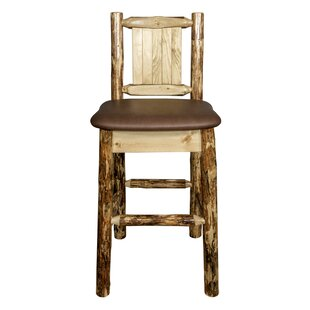 Southborough Rustic Counter Height 24 Bar Stool Loon Peak