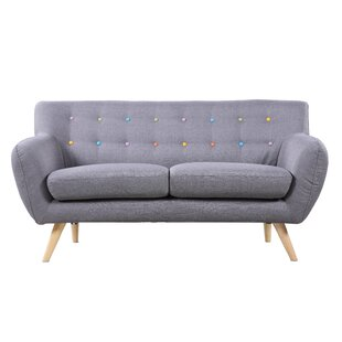 Look for Cal Mid-Century Standard Loveseat by Langley Street Reviews (2019) & Buyer's Guide
