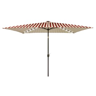 Trademark Innovations 10' X 6.5' Rectangular Lighted Umbrella