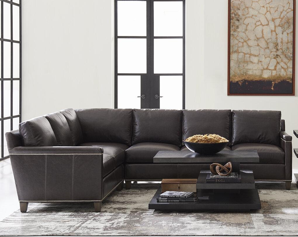 Fantastic Lexington Carrera Left Hand Facing Leather Sectional Wayfair Pabps2019 Chair Design Images Pabps2019Com
