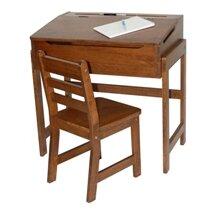 Alexa Kidsu0027 Desk And Chair Set In Walnut