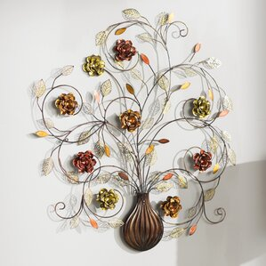 Metal Flower Wall Art metal wall art - wall décor | wayfair