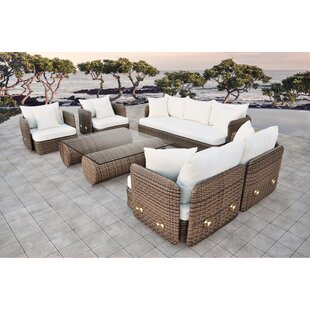 Novula 5 Piece Rattan Sofa Set with Cushions