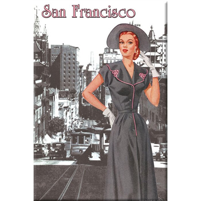 Buyenlarge San Francisco Fashion 1950 Vintage Advertisement On Wrapped Canvas Wayfair