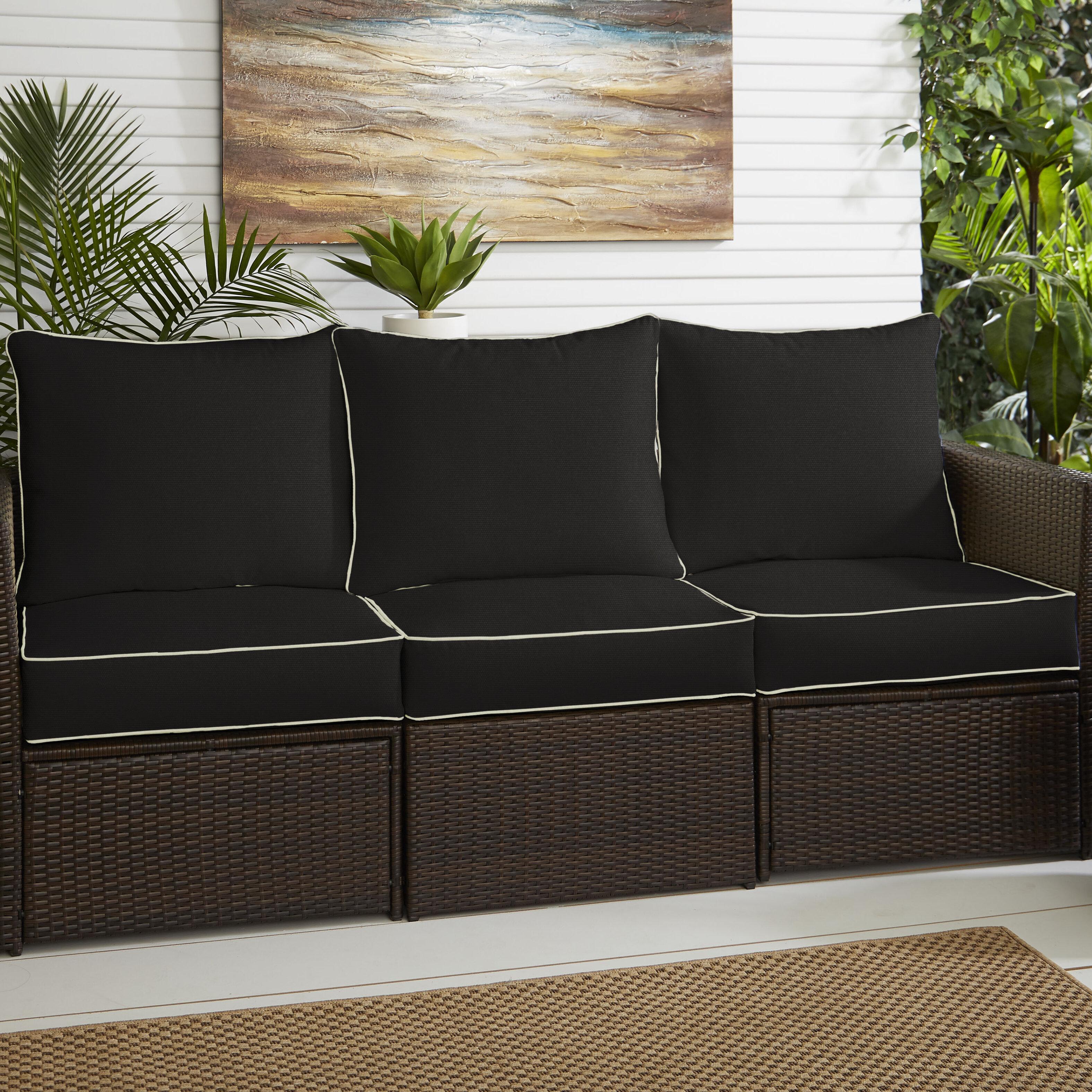 Phenomenal Indoor Outdoor Sunbrella Loveseat Sofa Cushion Short Links Chair Design For Home Short Linksinfo