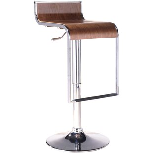 Wilton Adjustable Height Swivel Bar Stool Wade Logan