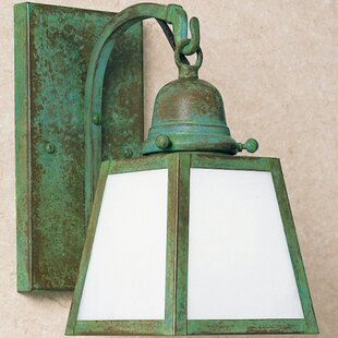 A-line 1-Light Outdoor Wall Lantern By Arroyo Craftsman Outdoor Lighting