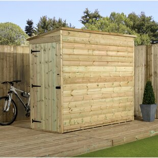 Bakersfield 3 Ft. W X 7 Ft. D Shiplap Pent Wooden Shed By Union Rustic
