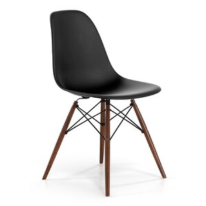Modern Contemporary Black Velvet Dining Chair AllModern - Contemporary wooden dining chairs