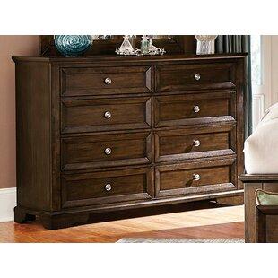 Juliann Rustic Wooden 8 Drawer Double Dresser by Darby Home Co