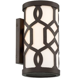 Compare prices Wheless 1-Light Outdoor Sconce By Willa Arlo Interiors