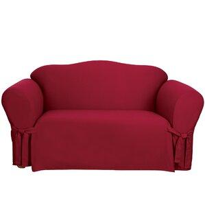 Cotton Duck Box Cushion Sofa Slipcover  sc 1 st  Wayfair & Dual Recliner Sofa Slipcover | Wayfair islam-shia.org