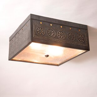 Gracie Oaks Kiser 2-Light Semi Flush Mount