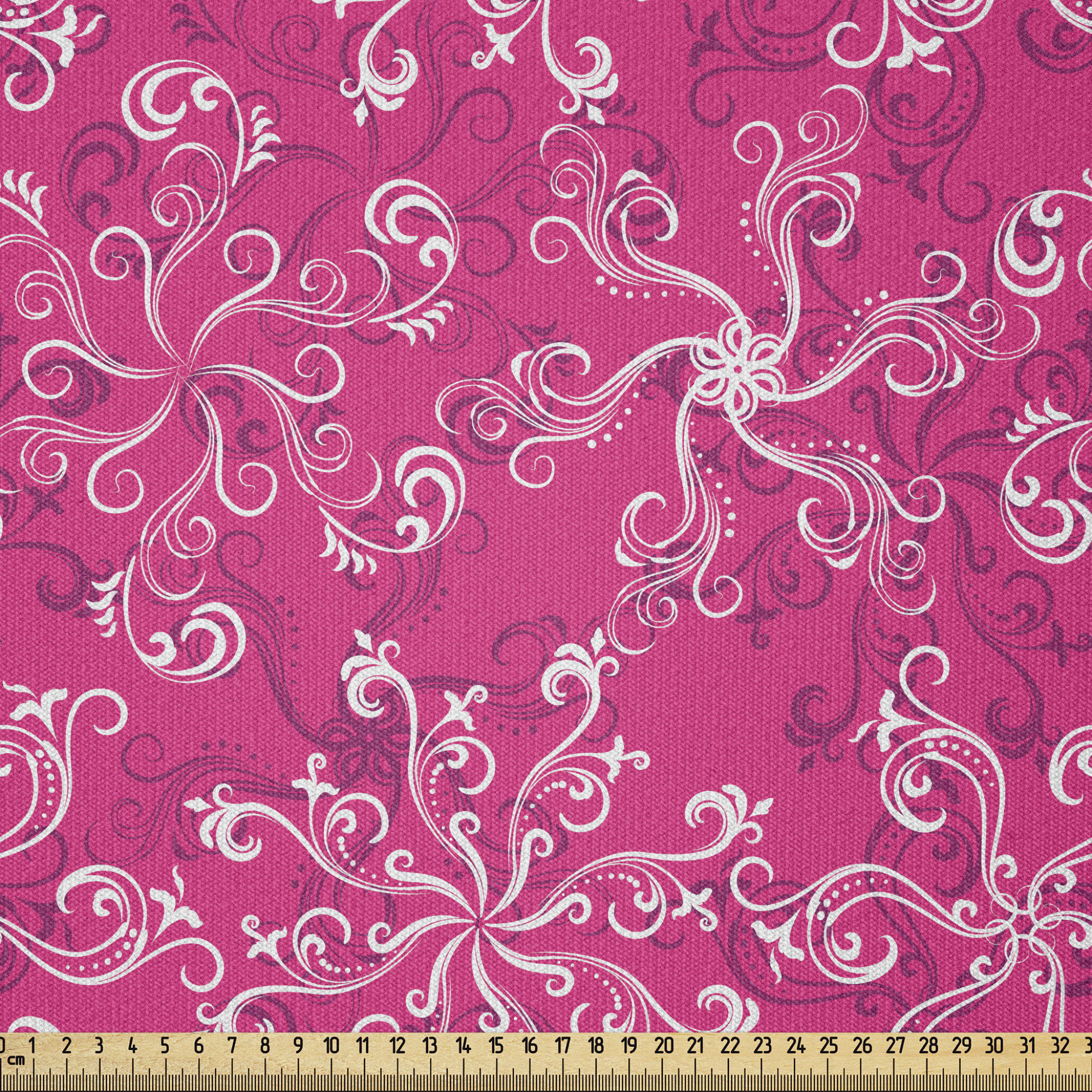 Pink chair fabric 9 plus yards Pink white fabric Pink Upholstery fabric