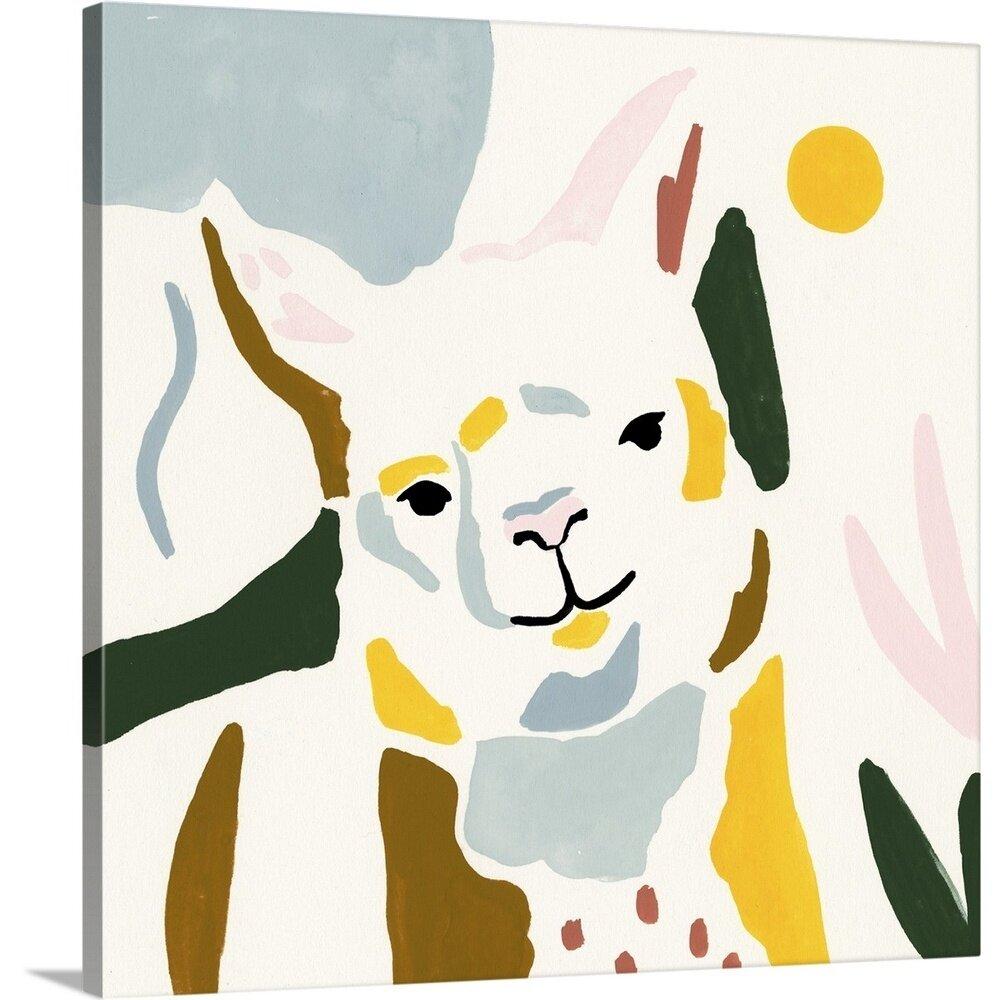 Novogratz Color Block Llama Ii Framed Painting Print Wayfair
