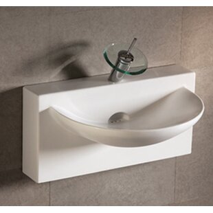 Best Reviews Isabella Ceramic 28 Wall Mount Bathroom Sink ByWhitehaus Collection