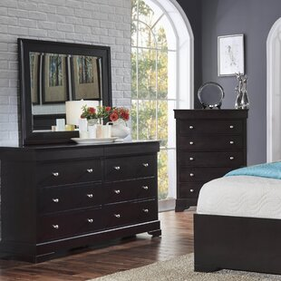 McLelland 6 Drawer Double Dresser with Mirror by Alcott Hill