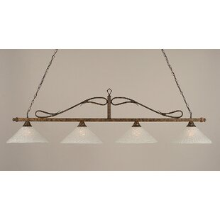 Reba 4-Light Glass Shade Billiard Light by Fleur De Lis Living