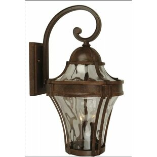 Charlton Home Oakhill Traditional Clear 1-Light Outdoor Wall Lantern