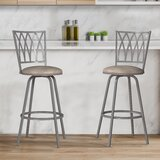 Briadale Swivel Adjustable Height Stool (Set of 2) by Winston Porter