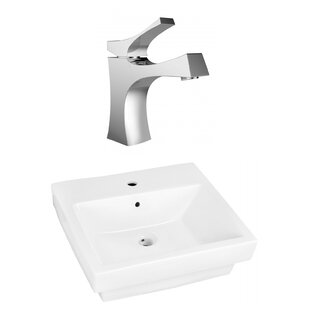 Best Reviews Ceramic Rectangular Bathroom Sink with Faucet and Overflow ByRoyal Purple Bath Kitchen