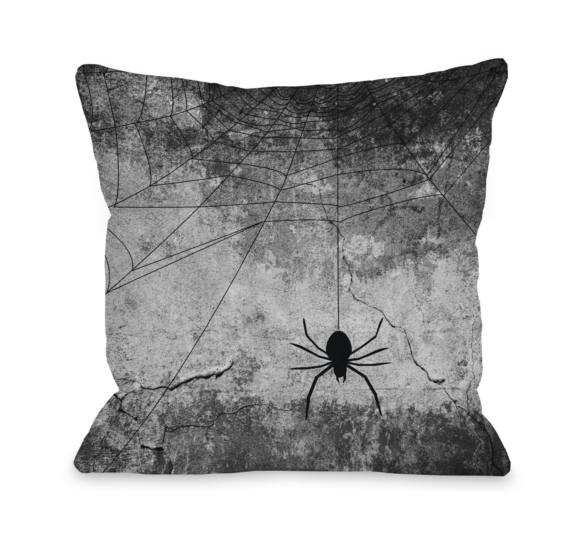One Bella Casa Hanging Spider Throw Pillow Reviews Wayfair