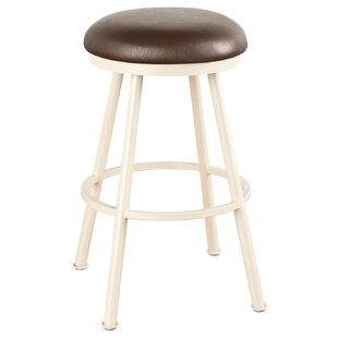 Hoye 34 Swivel Bar Stool Red Barrel Studio