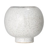 Elledge Ball Shaped Speckled Stoneware Pot Planter
